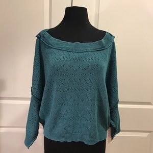 Free People NWT Sand Castle Crop Sweater L